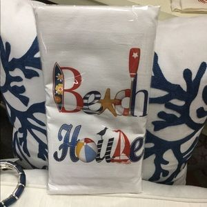 "30"" x 30"" Beach House Floursack Towel"